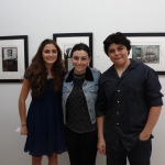 Charlotte on the left, artist Jordana Gluckow in the middle and TAG websmaster Matthew Pasquarelli on the right.