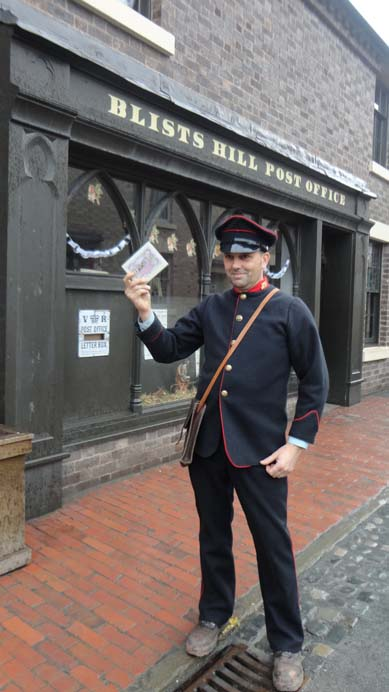 First Christmas Card visits @BlistsHill @postalheritage