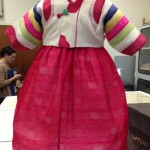 Dress from Korean child. This would be worn to the USA and then they were provided little Cowboy boots.