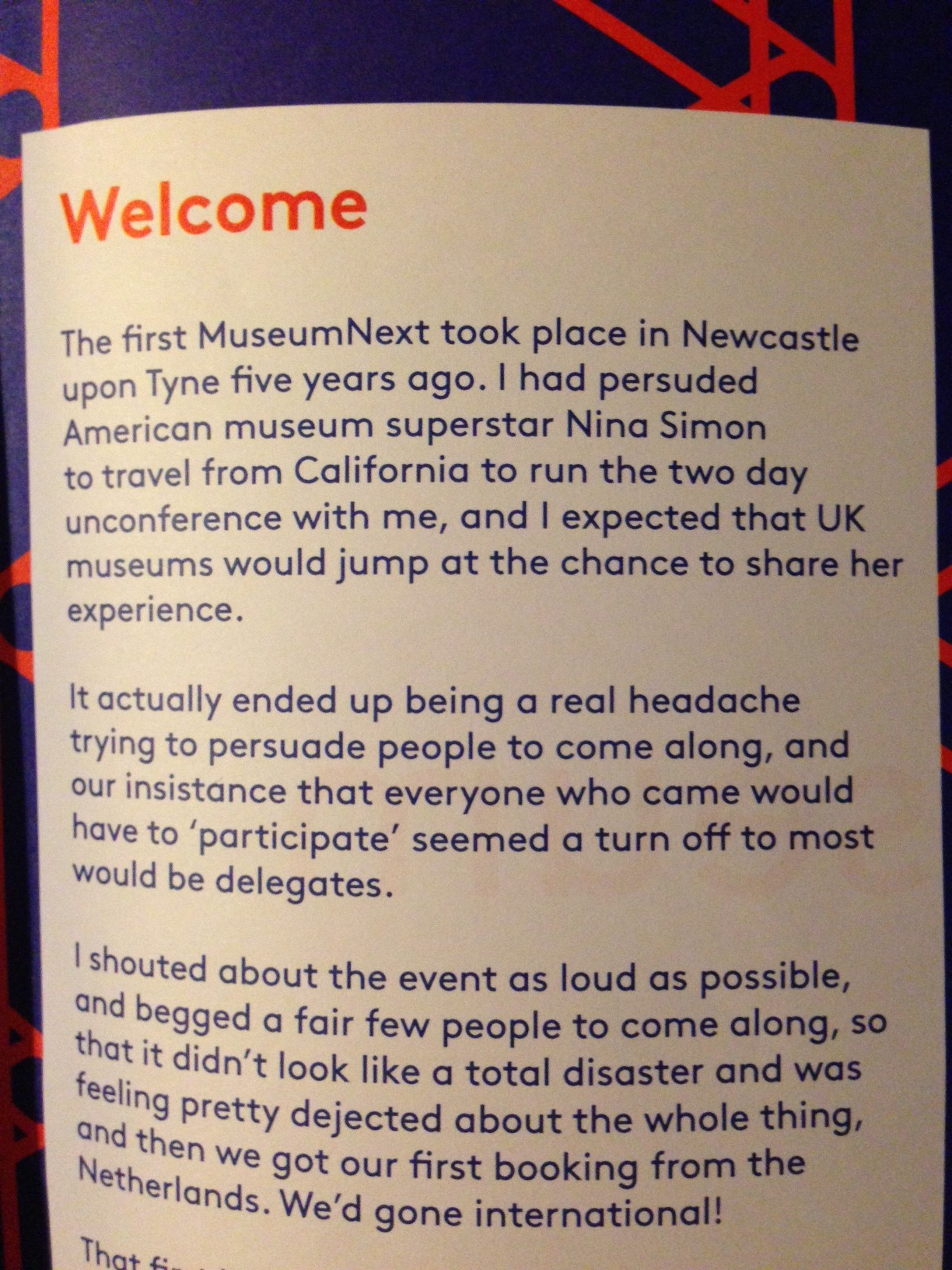 #MuseumNext 2013 – Past the Sessions
