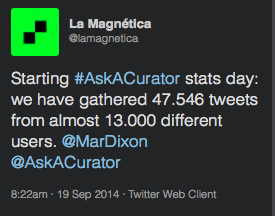 #AskACurator 2014: Building a Community and My TakeAways