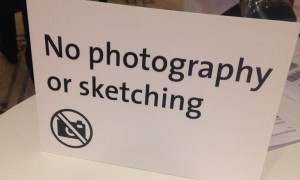 A ban on pencils … the V&A now forbids sketching in its temporary exhibitions. Photograph: Oliver Wainwright/Guardian