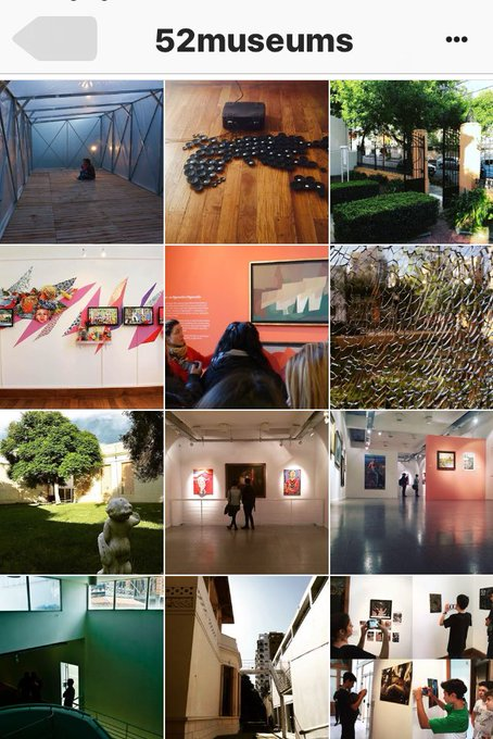 The 2017 @52Museums Schedule for Instagram & Twitter #52Museums