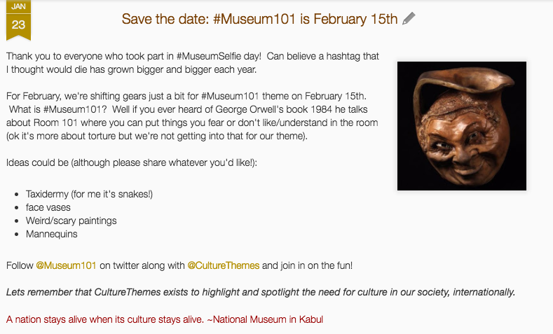 Recap of @CultureThemes #Museum101 event – museums sharing creepy items